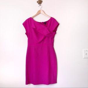 J. Crew Pink Origami Sheath Midi Dress NWT